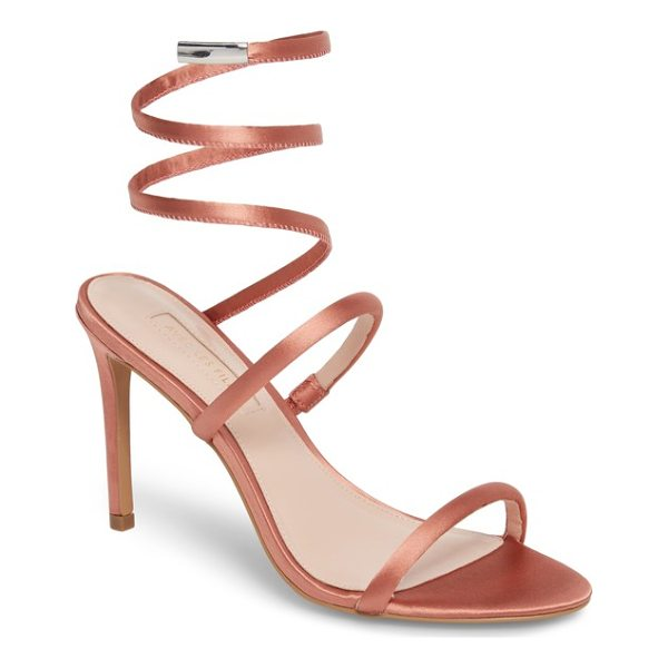 AVEC LES FILLES joia ankle wrap sandal - A slim, coiled strap wraps up and around the ankle on this...
