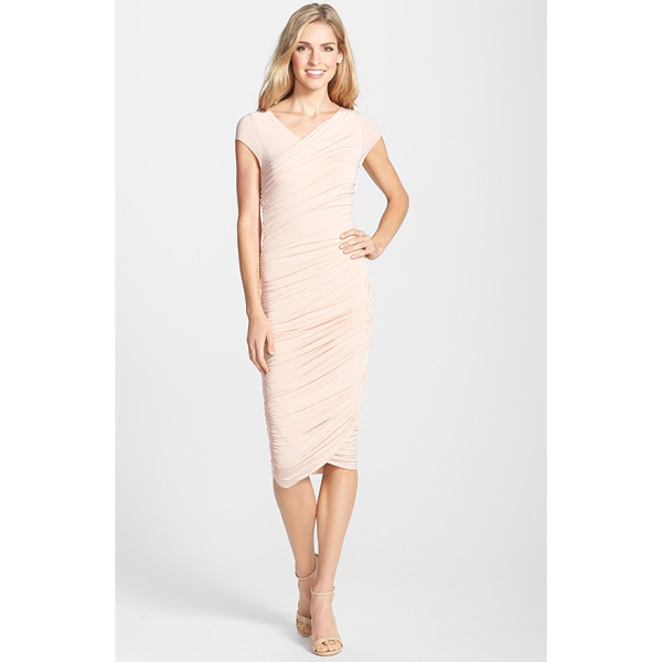 B44 DRESSED BY BAILEY 44 B44 dressed by bailey primrose body-con dress - Strategic ruching and Grecian draping hugs and flatters...