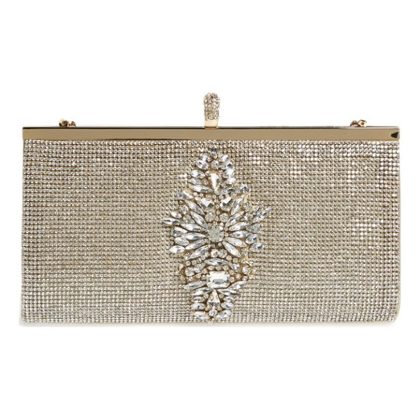 BADGLEY MISCHKA alisha clutch - A crystal-encrusted frame clutch dazzles as an elegant...