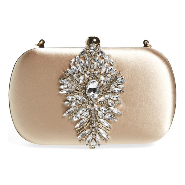 BADGLEY MISCHKA aurora clutch - A shimmering crystal ornament adds eye-catching elegance to...