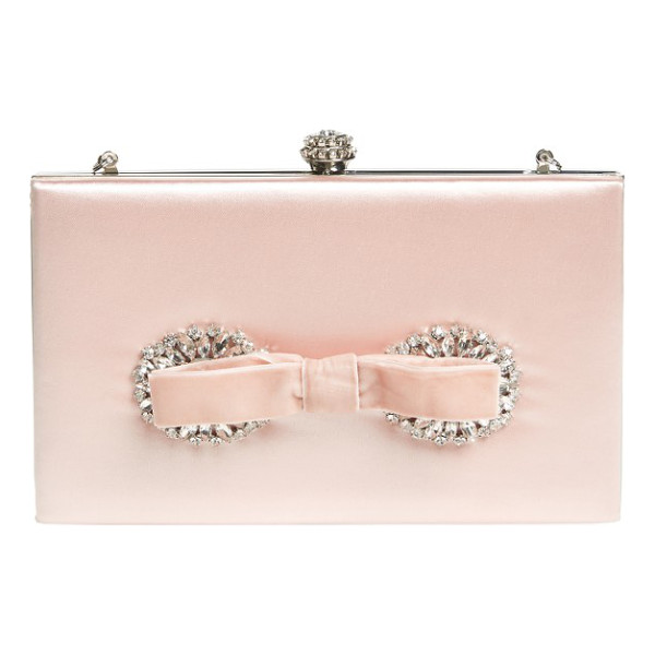 BADGLEY MISCHKA autumn clutch - A velvet bow and shimmering crystals add unmistakable