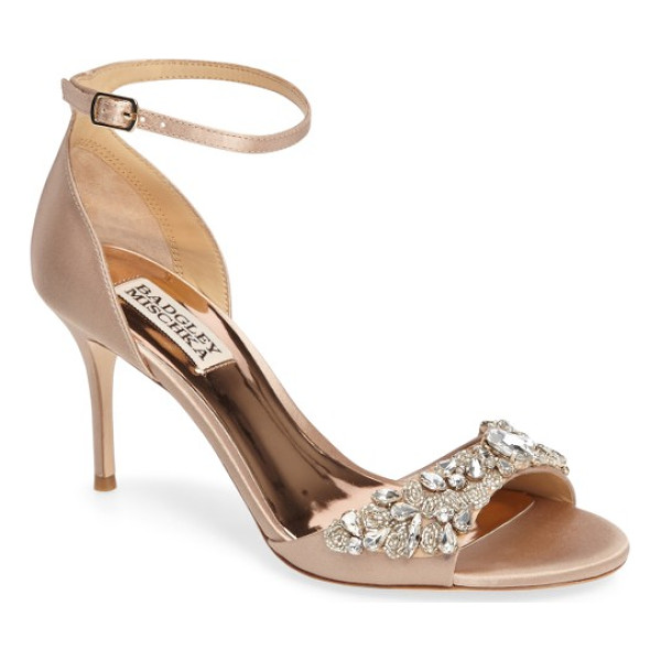 BADGLEY MISCHKA bankston sandal - A slender ankle strap secures an event-ready sandal...