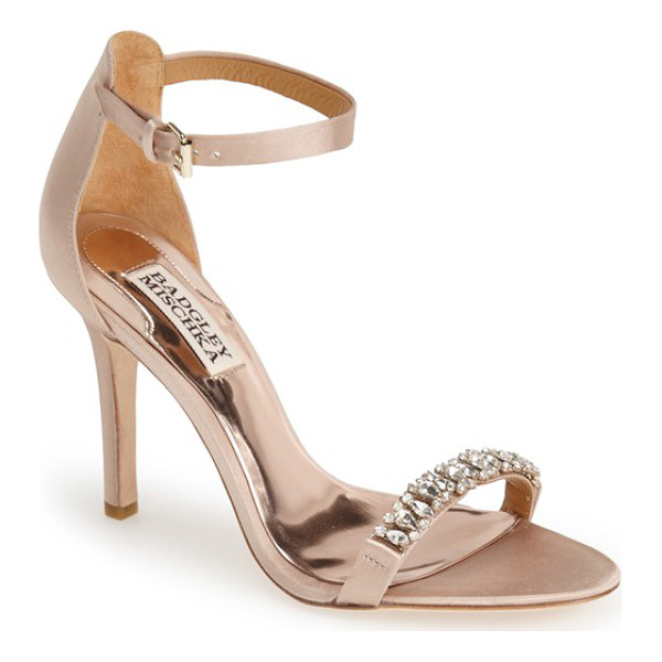 BADGLEY MISCHKA elope crystal embellished sandal - The season's favorite ankle-strap silhouette is all dolled...