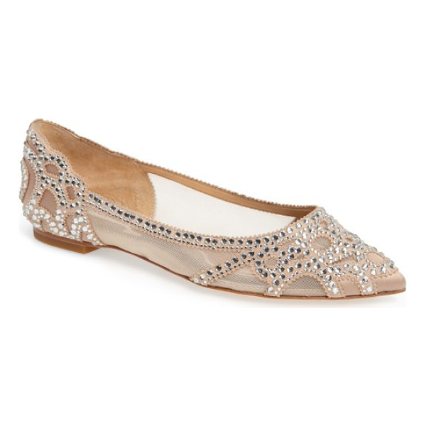 BADGLEY MISCHKA gigi crystal pointy toe flat - You'll dazzle in these scene-stealing pointy-toe flats