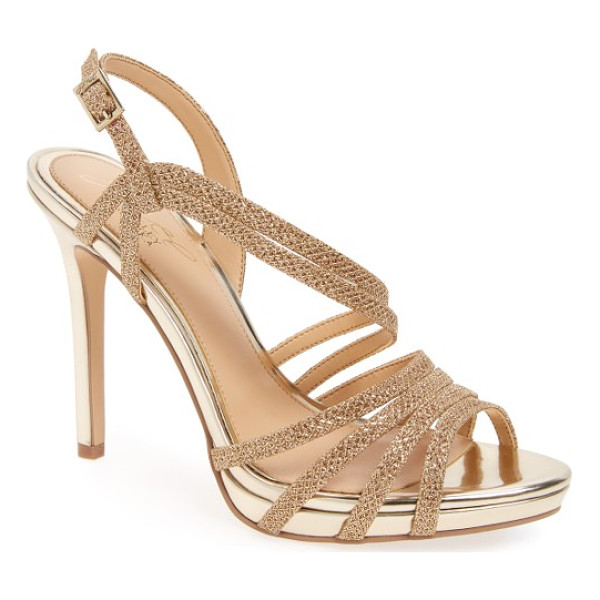 BADGLEY MISCHKA humble strappy sandal - Two slender straps sweep diagonally up the front of an