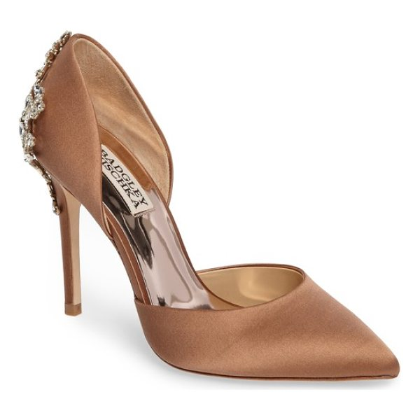BADGLEY MISCHKA karma embellished pump - A crystal-encrusted filigree brings stately elegance to the...