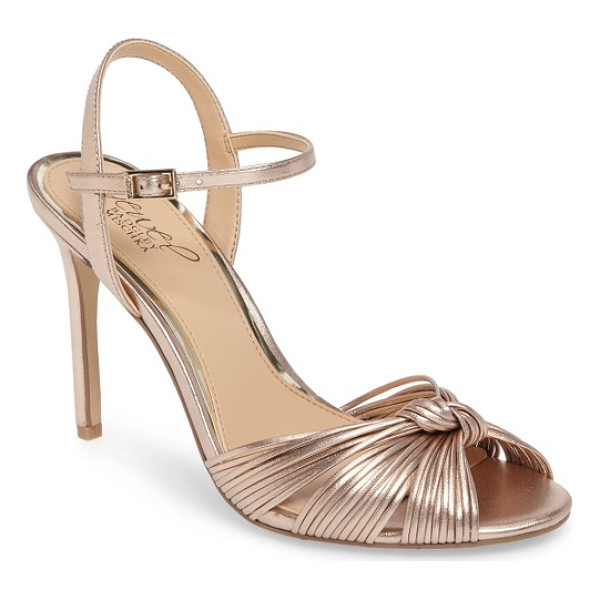 BADGLEY MISCHKA lady ankle strap sandal - A knotted strap enhances the dramatic sophistication of...