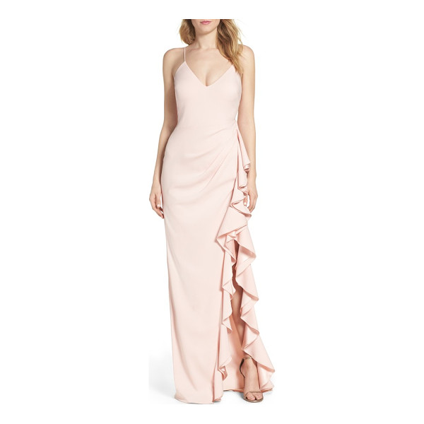 BADGLEY MISCHKA ruffle gown - A stunning gown is at once quintessentially romantic and...