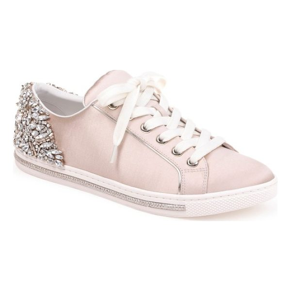 BADGLEY MISCHKA shirley crystal embellished sneaker - A cluster of sparkling crystals and shimmering beads...