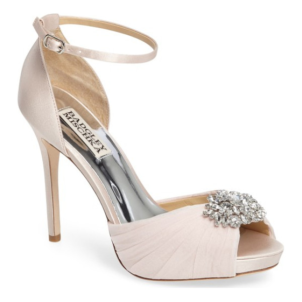BADGLEY MISCHKA tad ankle strap pump - Indulge in decadence with this stunning d'Orsay pump. The...