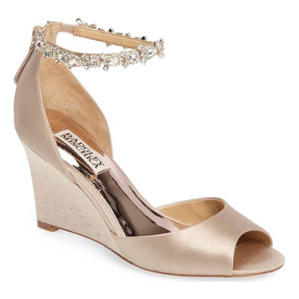 BADGLEY MISCHKA tahlia crystal ankle strap sandal - A crystal-encrusted ankle strap that looks like jewelry...