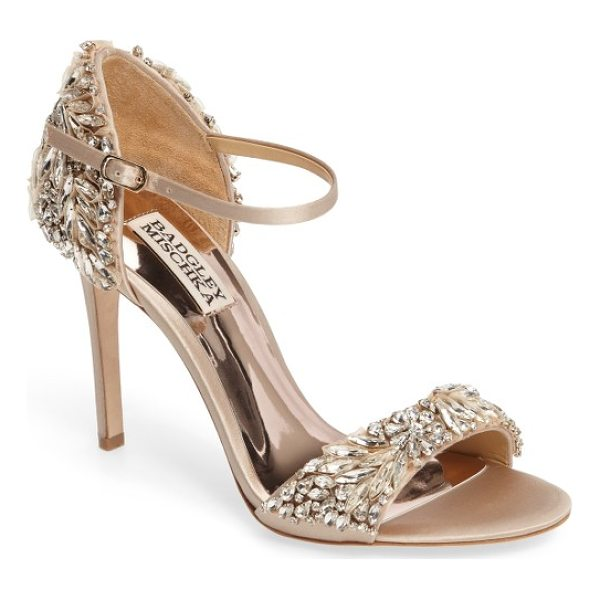 BADGLEY MISCHKA tampa ankle strap sandal - This strappy sandal will add just enough sparkle and shine...