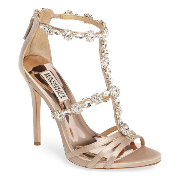BADGLEY MISCHKA thelma crystal sandal - All the bling you need for your next cocktail outfit is on...