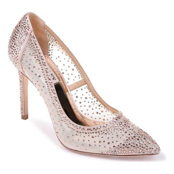 BADGLEY MISCHKA weslee pointy toe pump - Sparkling crystals shimmer and shine as you glide across...
