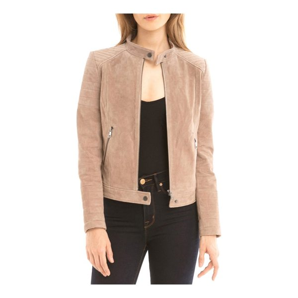 BAGATELLE suede moto jacket - This chic moto jacket is cut from supersoft, buttery suede...