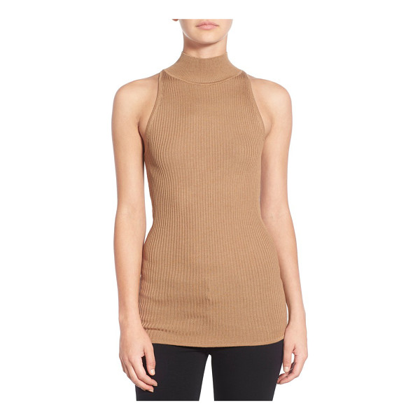BAILEY 44 agave sleeveless turtleneck - Subtle rib knitting adds rich textural dimension to a...