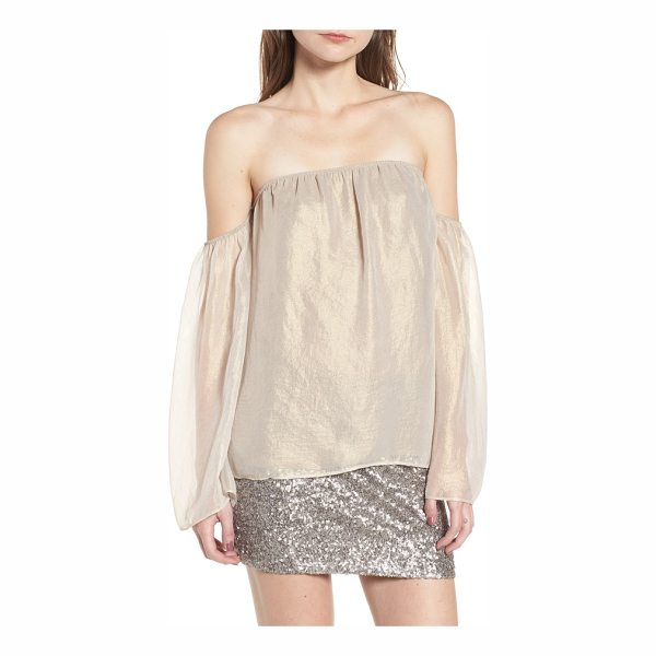 BAILEY 44 outtake off the shoulder blouse - An iridescent sheen gives this floaty chiffon blouse an...
