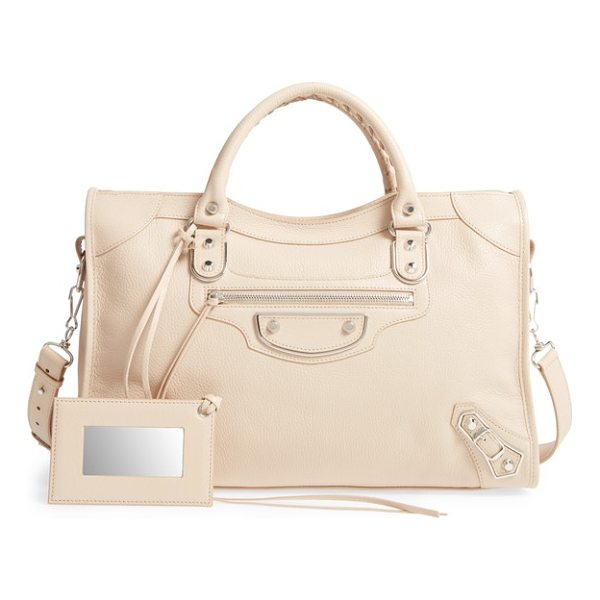 BALENCIAGA metallic edge city aj leather tote - Made from richly textured goatskin leather, this version of...