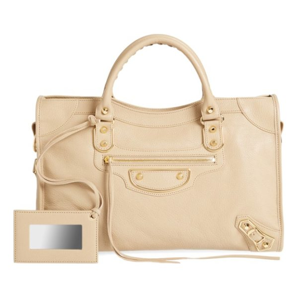BALENCIAGA classic metallic edge city leather tote - Made from beautifully textured goatskin leather, this...