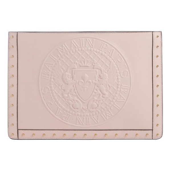 BALMAIN mini domaine embossed coin calfskin bag - Balmain's embossed coin adds rich texture to a trim...