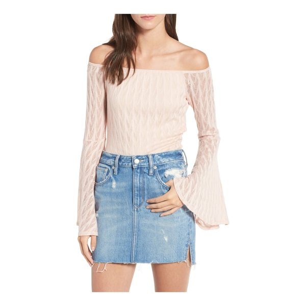 BAND OF GYPSIES bell sleeve off the shoulder top - Wide, flowy sleeves and a stretchy off-shoulder neckline...