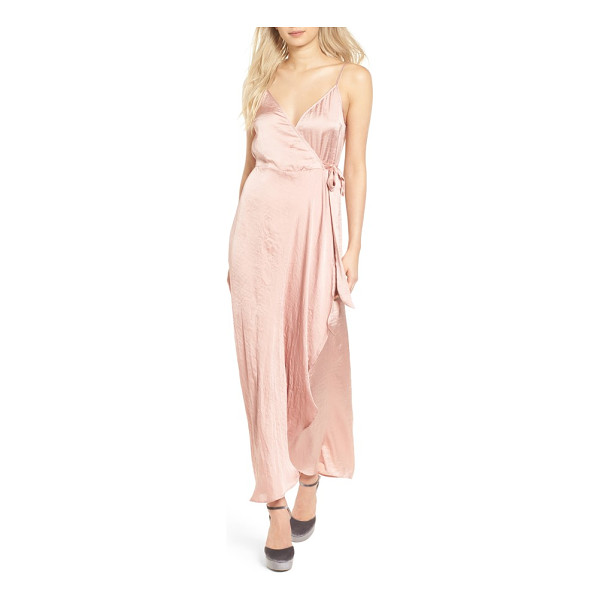 BAND OF GYPSIES faux wrap satin dress - Cut from tissue-paper-thin satin in the perfect shade of...