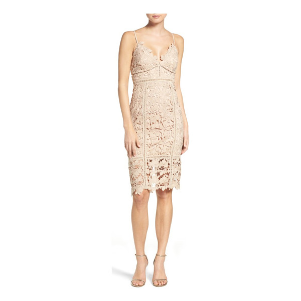 BARDOT botanica lace dress - This lacy cocktail dress flatters and flaunts your figure...