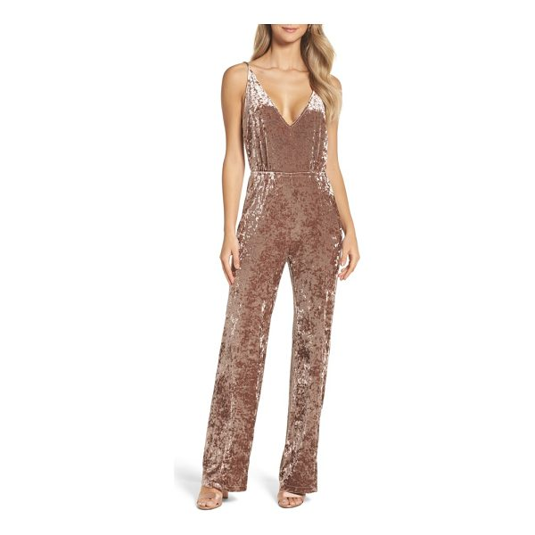 BB DAKOTA cassandra velvet jumpsuit - With a simple silhouette and a plunging neckline, this...