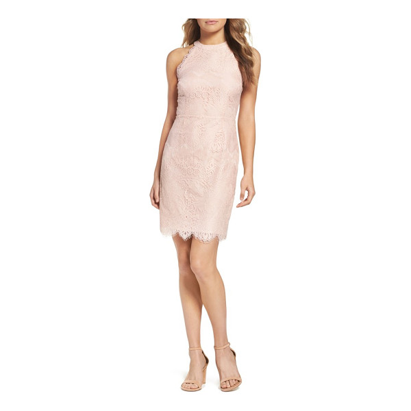 BB DAKOTA josie lace sheath dress - Scalloped edges add to the soft, delicate aesthetic of this...