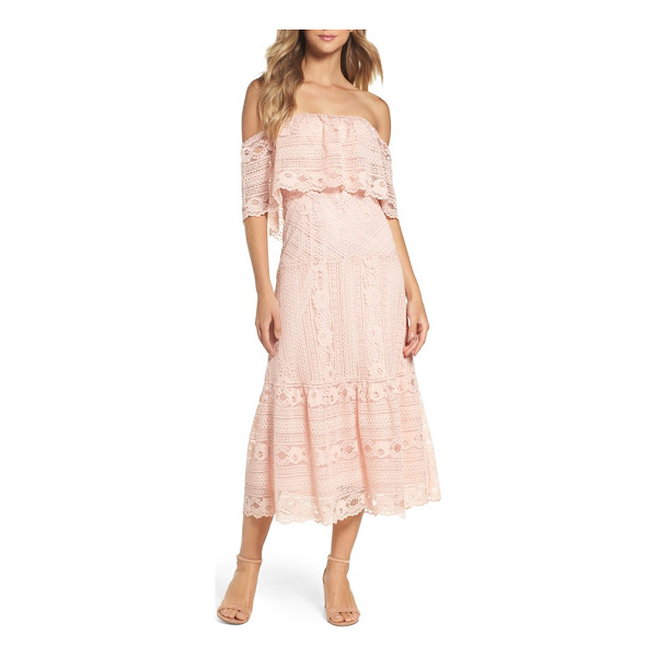 BB DAKOTA katie lace midi dress - Romantic lace in an easygoing cut primes this popover dress...