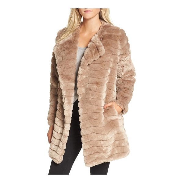 BB DAKOTA mccoy faux fur coat - Channel-stitched for interesting texture and made from...