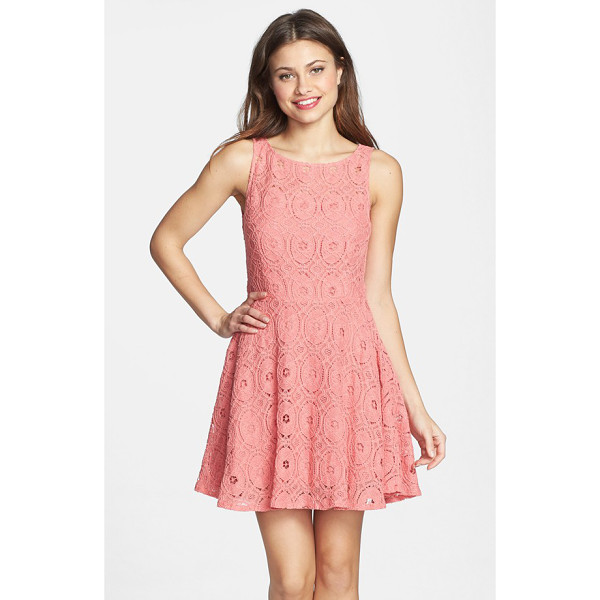 BB DAKOTA renley lace fit & flare dress - Rich lace balances the flirty cut of a flouncy day-to-night...