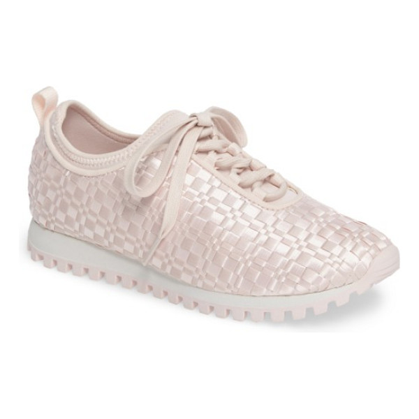 BCBG lynn sock fit woven sneaker - Woven grosgrain ribbons bring shimmer and texture to a...