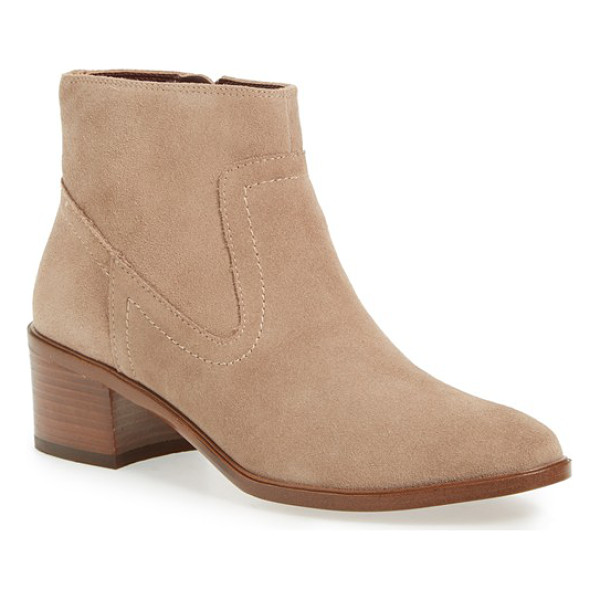 BCBGENERATION 'allegro' block heel bootie - A stacked block heel adds just-right height to a suede...