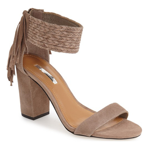 BCBGENERATION 'calizi' sandal - A chunky braided ankle strap and cascading fringe further...