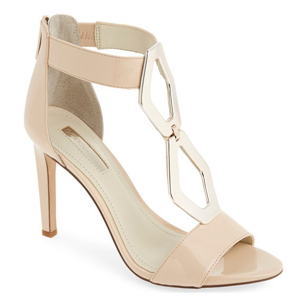 BCBGENERATION cayce patent sandal - Shiny, oblong octagons catch the eye on an alluring sandal...