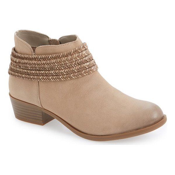 BCBGENERATION 'clayton' block heel bootie - Braided straps and a low, stacked heel add rugged Western