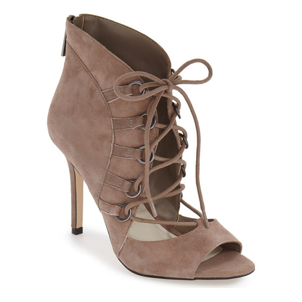 BCBGENERATION 'deirdra' lace up sandal - Corset-inspired lacing and a flirty open toe give an '80s...