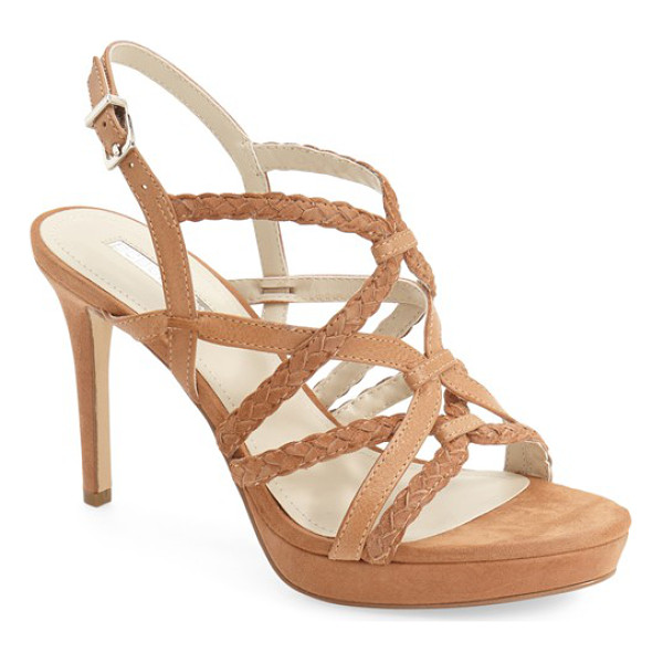 BCBGENERATION emmi platform sandal - Mixed smooth and braided straps crisscross on a...