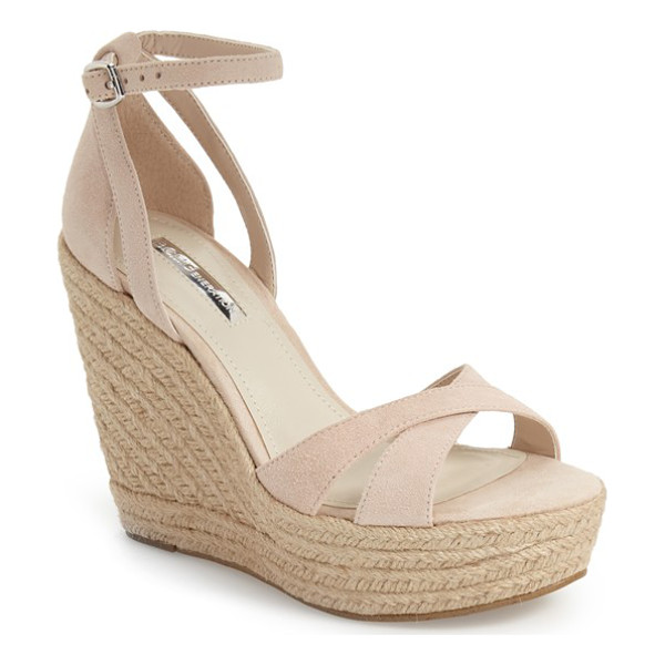 BCBGENERATION holly sandal - A woven wrapped platform and heel enhance the free-spirited...
