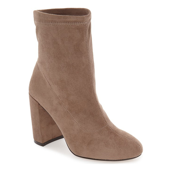 BCBGENERATION lilianna block heel bootie - A lush suede bootie takes its inspiration from retro mod...