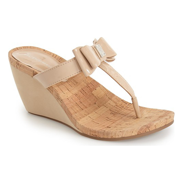 BCBGENERATION michelle wedge sandal - Lightweight cork and cushy memory foam compose a summery...