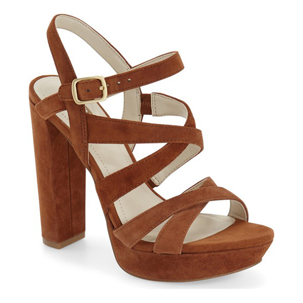 BCBGENERATION morgan platform sandal - Thin, crisscrossing straps shaped from supple leather top a...
