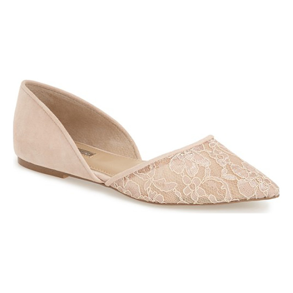 BCBGENERATION peggie pointy toe flat - A breezy d'Orsay cut adds to the elegance of a pointy toe...