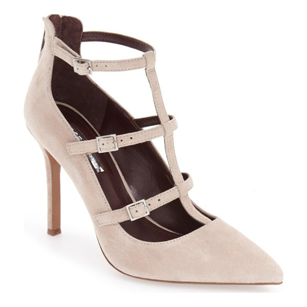 BCBGENERATION 'tamerra' cage pump - Buckle-embellished cage straps turn up the edgy attitude of...