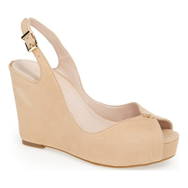 BCBGENERATION tashaa sandal - Smooth leather wraps the wedge of a cohesively cool sandal...