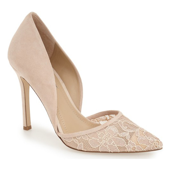 BCBGENERATION tori dorsay pump - Sheer floral lace at the pointed toe adds to the romance of...
