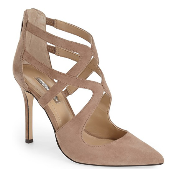 BCBGENERATION torpido cage pump - Striking cage straps add a fierce, fashion-forward element...