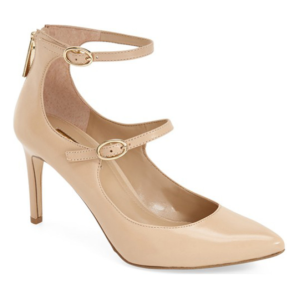 BCBGENERATION 'zaluca' sandal - Gleaming goldtone hardware adds to the elegance of a pointy...