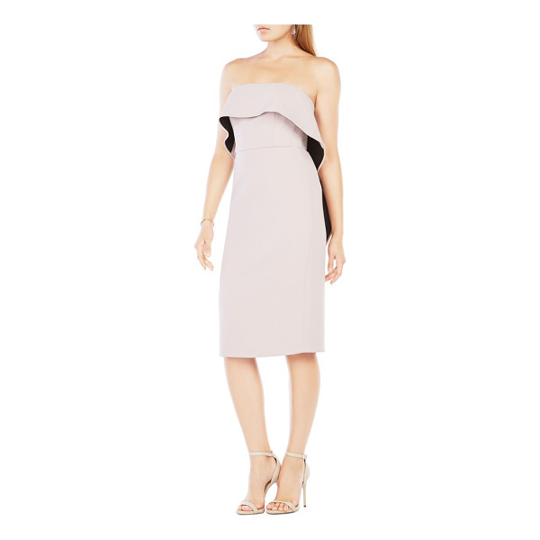 BCBGMAXAZRIA montana midi dress - One structured ruffle swoops around this long,...